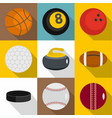 sport equipment for active games icons set vector image vector image