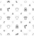 t icons pattern seamless white background vector image vector image