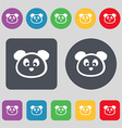 Teddy Bear icon sign A set of 12 colored buttons vector image