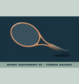tennis racquet icon game equipment professional vector image