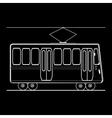 Tram city public municipal passenger transport vector image vector image