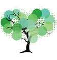 tree color green dot vector image