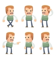 universal characters in different poses genius vector image