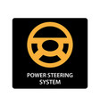 warning dashboard car icon power steering system vector image vector image