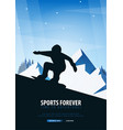 winter sport ski and snowboard mountain vector image vector image
