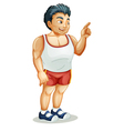 Muscular man Pointing vector image