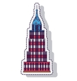 empire state isolated icon vector image