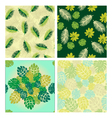 patterns with Tropical leaves vector image