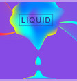 abstract background with fluid multicolored drop vector image