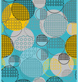 abstract geometry from contoured circles with vector image vector image