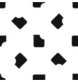 abstract pocket pattern seamless black vector image vector image