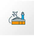 airport building icon colored line symbol premium vector image