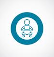 baby icon bold blue circle border vector image vector image