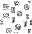 biomaterials seamless pattern vector image vector image