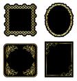 black and gold vintage frames - set vector image vector image