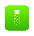 blood test icon digital green vector image vector image