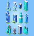 building skyscraper in cityscape city vector image vector image
