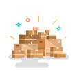 cardboard box flat style vector image