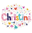 Christina name design vector image vector image