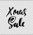 christmas sale modern dry brush lettering vector image