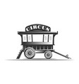 circus wagon isolated on white background vector image