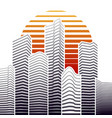 city skyline in flat style urban landscape vector image