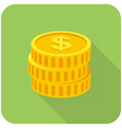 Coins icon vector image vector image