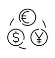 currency conversion line icon concept sign vector image