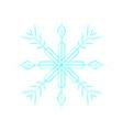 cute blue snowflake vector image