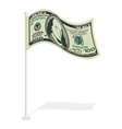 Dollar flag Financial paced checkbox Sign for vector image vector image