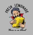 dracula biting lemon vector image vector image