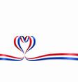 dutch flag heart-shaped ribbon vector image vector image