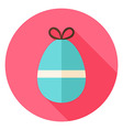 Easter Egg with small Bow Knot Circle Icon vector image vector image
