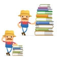 Farmer with books vector | Price: 1 Credit (USD $1)