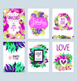 floral banners set vector image vector image
