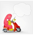 Funny Monster Scooter vector image