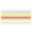 gear shape halftone spectral pattern vector image vector image