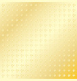 gold background with small crosses vector image vector image