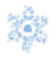 grainy snowflake isolated vector image vector image