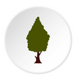 green tree icon circle vector image vector image