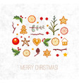 greeting card with christmas decorations vector image vector image