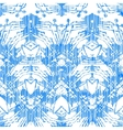 Hand painted pattern with damask and ikat motifs vector image