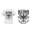 heraldic eagle t-shirt print mockup military club vector image vector image