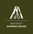 high quality sharpening services icon vector image