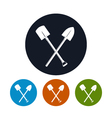 Icon of a Crossed Shovels vector image vector image