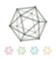 icosahedron transparent wireframe vector image vector image