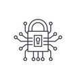 information security line icon concept vector image vector image