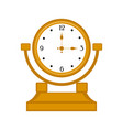 isolated clock icon vector image vector image