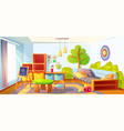 kids bedroom empty child room indoors interior vector image