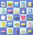 laundry icon set flat style vector image